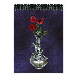 Silver Vase Gothic Invitation