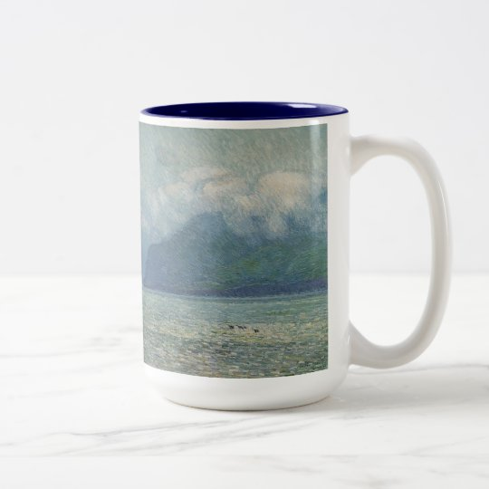 Silver Veil and Golden Gate by Childe Hassam Two-Tone Coffee Mug