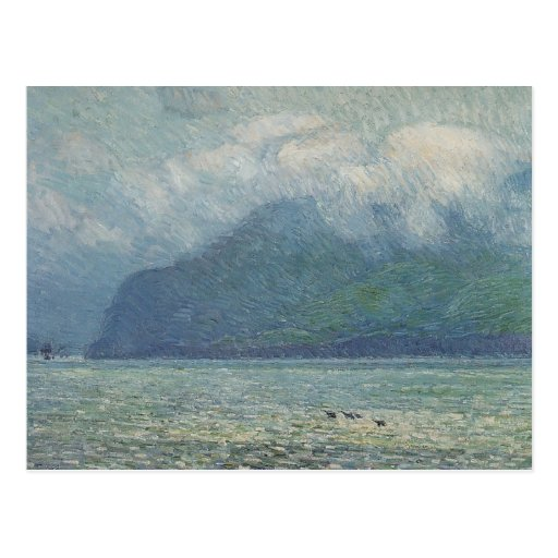 Silver Veil and Golden Gate by Hassam, Vintage Art Postcard