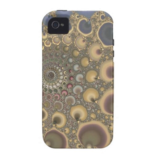 Silver Vein! Fractal Art iPhone 4 Covers