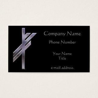 Silver Viking Rune Luck Business Card
