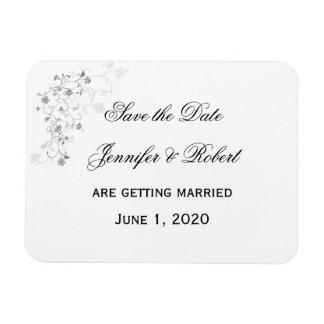 Silver Vines Save the Date Magnet