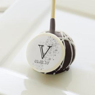 Silver Vines Wedding Cake Pops