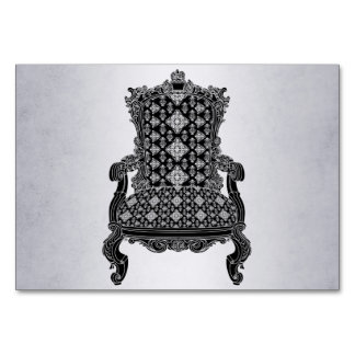Silver vintage chair Number Card table card