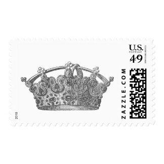 Silver Vintage Crown A005 Postage