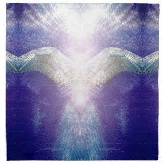 Silver violet angel cloth napkin