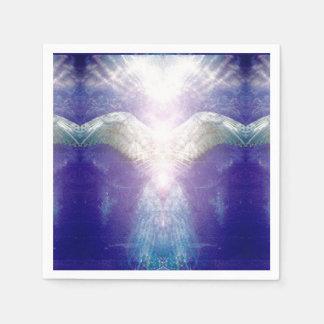 silver violet angel paper napkin