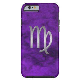 silver virgo - purple tough iPhone 6 case