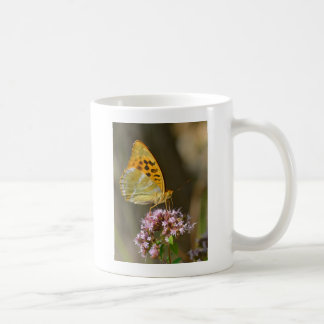 Silver-washed Fritillary butterfly on flower Coffee Mugs