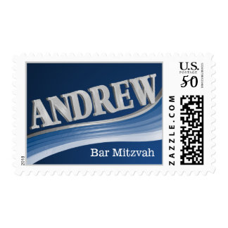 Silver Wave Andrew Bar Mitzvah Postage