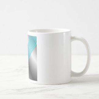 Silver wave background coffee mug