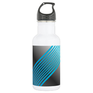 Silver wave background stainless steel water bottle