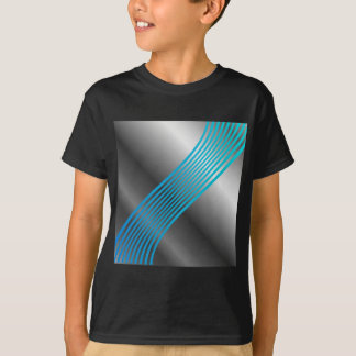 Silver wave background T-Shirt