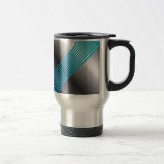 Silver wave background travel mug