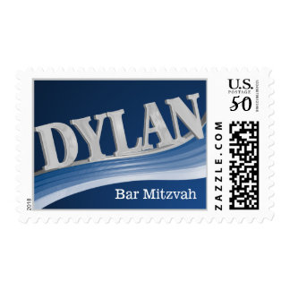 Silver Wave Dylan Bar Mitzvah Postage