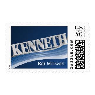 Silver Wave Kenneth Bar Mitzvah Postage