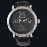 "Silver Wedding Anniversary 25th Anniversary Watch<br><div class=""desc"">Silver Wedding Anniversary 1993 2018 Elegant Watch</div>"