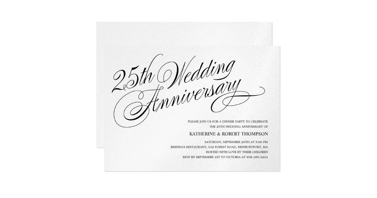 Silver Wedding Anniversary Invitations | Zazzle.com