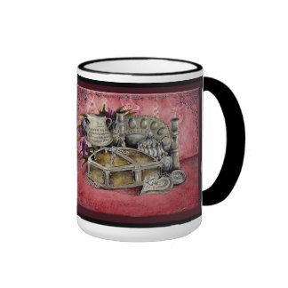 Silver Wedding Anniversary: Jupigio-Artwork.com Ringer Coffee Mug