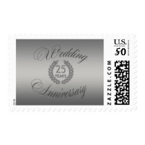 Silver Wedding Anniversary Monogram Stamp