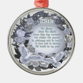 Silver Anniversary Ornaments Silver Anniversary Ornament Designs Zazzle