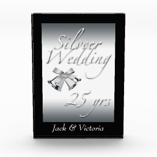 Silver Wedding Anniversary-Personalize Award