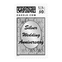 Silver Wedding Anniversary Postage