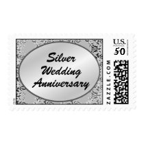 Silver Wedding Anniversary Postage Stamps
