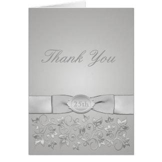 Silver Wedding Anniversary Thank You Card