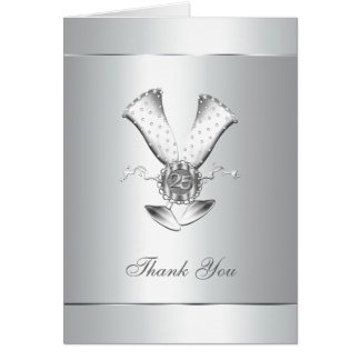 Silver Wedding Anniversary Thank You Cards