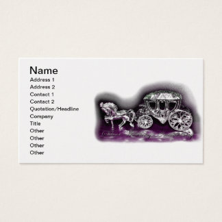 Silver Wedding Anniversary with a Silver Coach Business Card