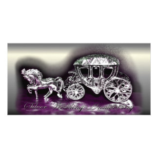 Silver Wedding Anniversary with a Silver Coach Card