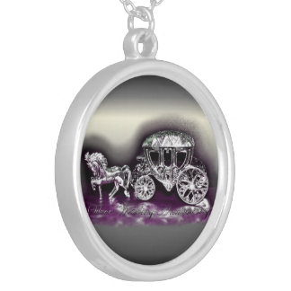 Silver Wedding Anniversary with a Silver Coach Silver Plated Necklace