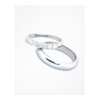 Silver Wedding Bands Save the Date Letterhead