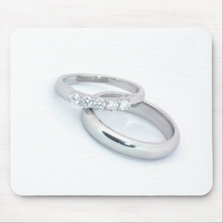 Silver Wedding Bands Save the Date Mousepads