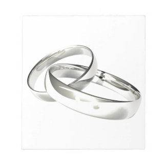 Silver Wedding Bands Save the Date Notepad