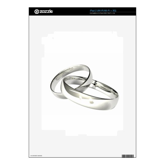 Silver Wedding Bands Save the Date Skins For iPad 2