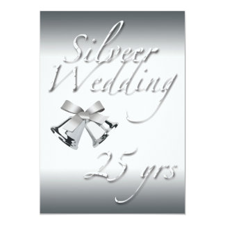 Silver Wedding Celebration-Silver Bells Card