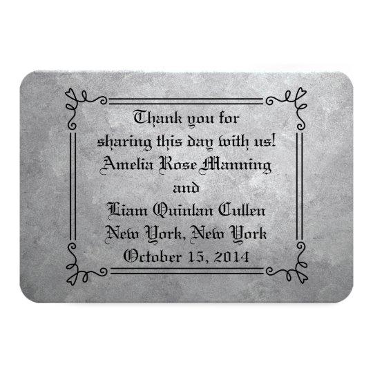 Silver Wedding Favor Tags Card
