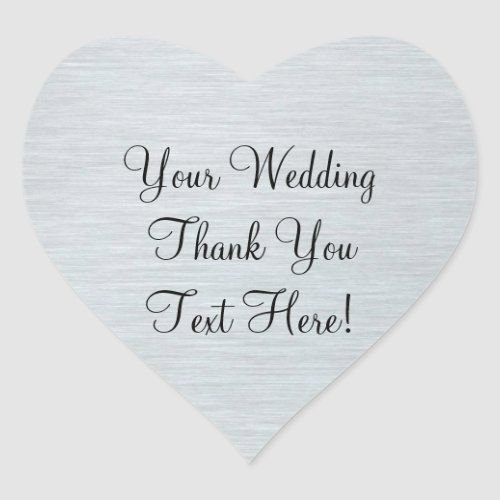 Silver Wedding Favor Thank You Sticker