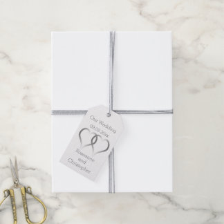 Silver Wedding Gift Tags