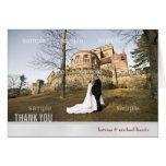 Silver Wedding Photo Thank You Card