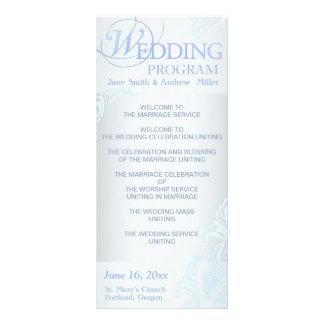 Silver Wedding Program Rack Cards