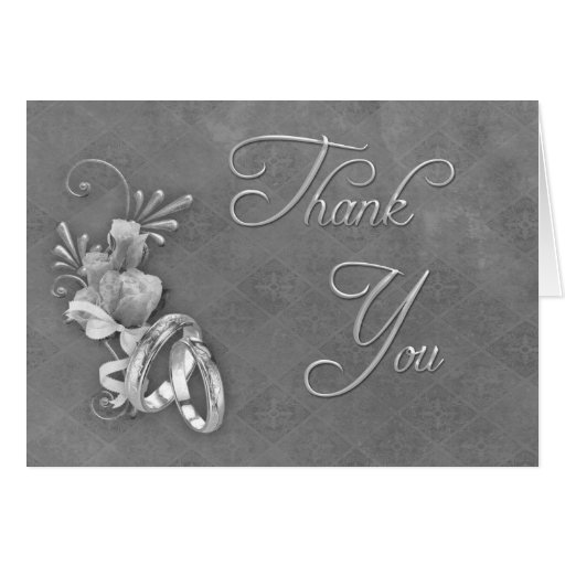 Ypus Silver Wedding Thank: Silver Wedding Thank You Greeting Cards