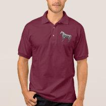 SILVER WESTERN HORSE Gildan Jersey Polo Shirt