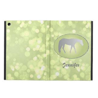 Silver Western Pleasure Horse on Green Brokeh iPad Air Cover
