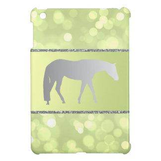 Silver Western Pleasure Horse on Green Brokeh iPad Mini Cover