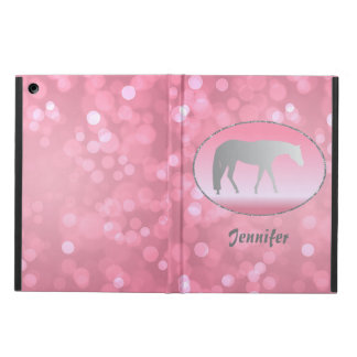 Silver Western Pleasure Horse on Pink Brokeh Cover For iPad Air