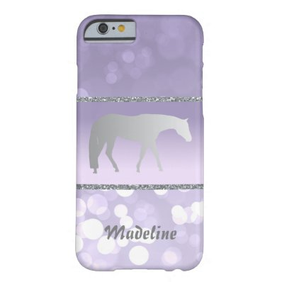 Silver Western Pleasure Horse on Purple Brokeh Barely There iPhone 6 Case