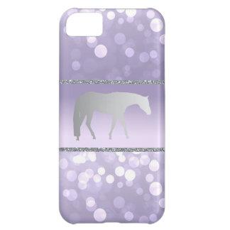 Silver Western Pleasure Horse on Purple Brokeh Case For iPhone 5C